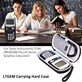 LTGEM Case for Texas Instruments TI-84, 89/83/Plus/CE Graphics Calculator-Includes Mesh Pocket.(Hard and black)