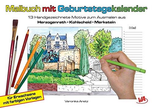 malbuch-mit-geburtstagskalender-aus-herzogenrath-kohlscheid-merkstein-13-handgezeichnete-motive-zum-ausmalen-fr-erwachsene-mit-farbigen-vorlagen