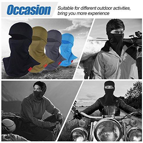 Balaclava Full Face Mask Motorcycle Helmet Liner Breathable Multipurpose Outdoor Sports Wind Proof Dust Head Hood by Qinglonglin (Image #5)