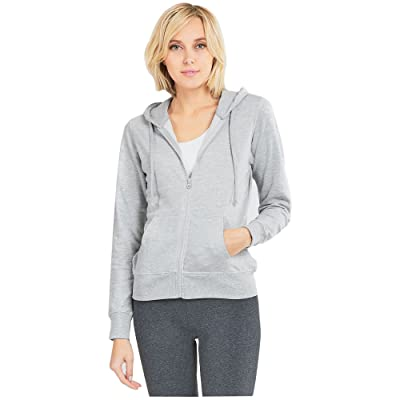 Uni Style Apparel Womens Cotton Terry Fabric Zip Up Hoodie Jacket