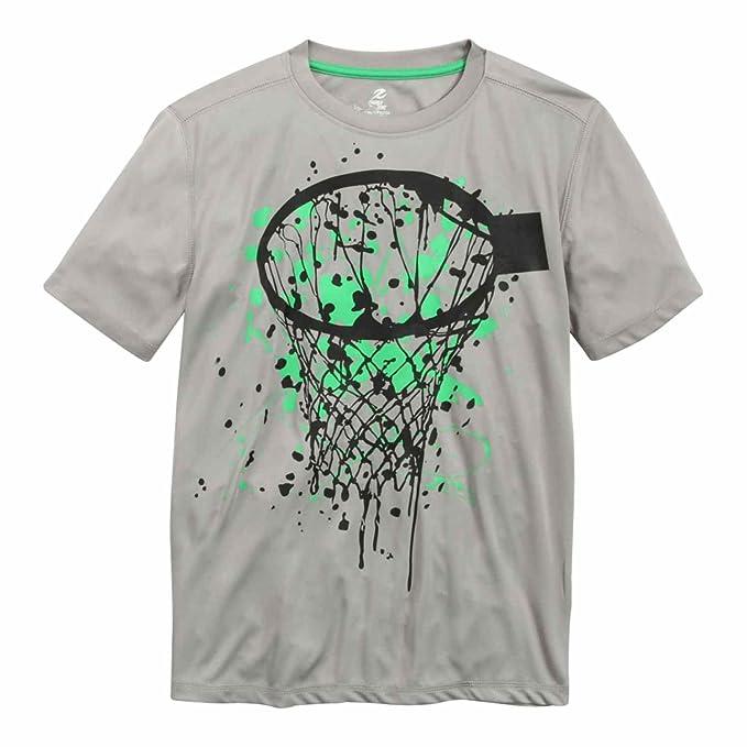 0ff4ddf2c793d Amazon.com: Energy Zone Boys Gray Basketball Hoop Athletic Short ...