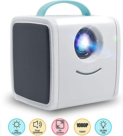 Amazon.com: Aijin Projector Portable Projector,Mini HD ...