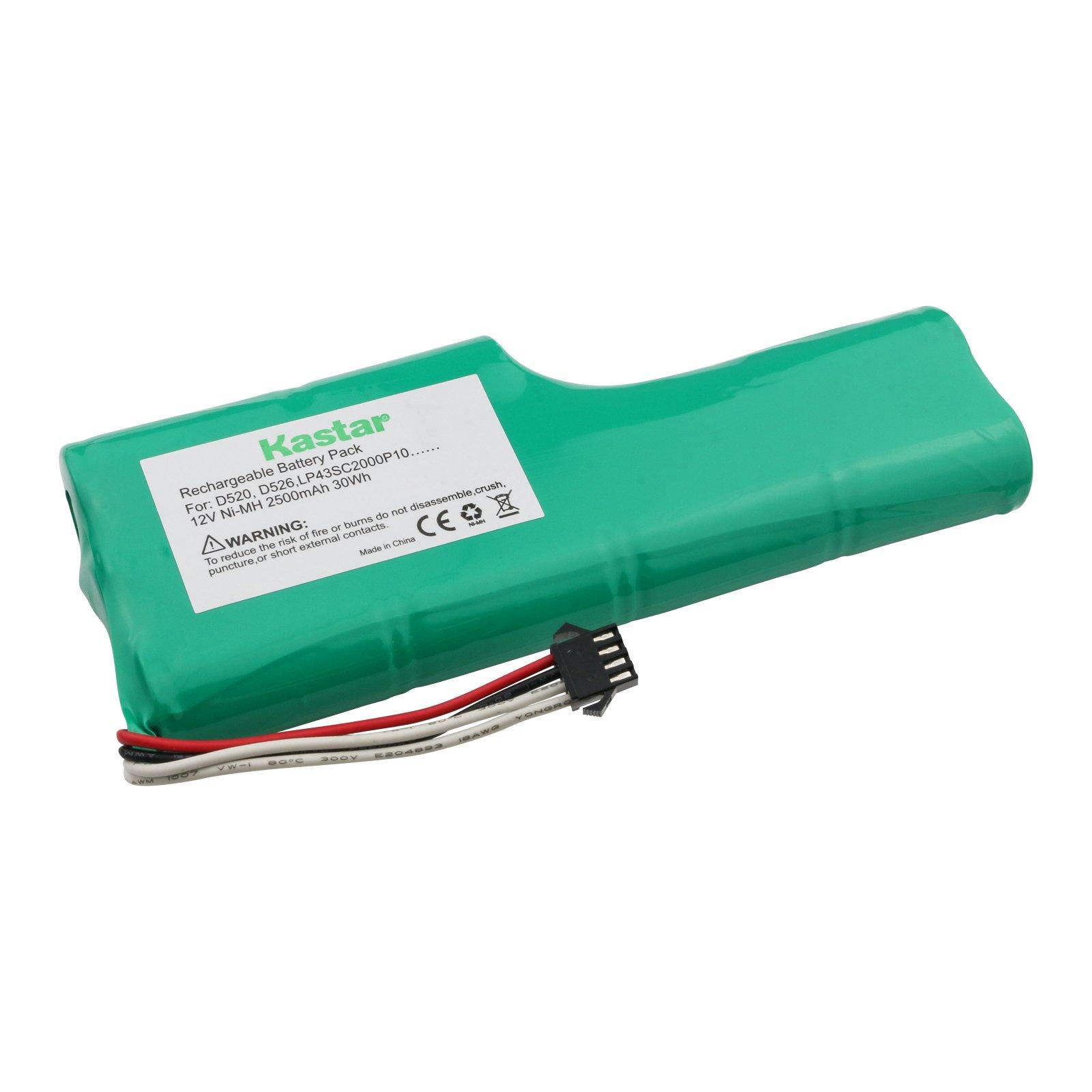Kastar D520 Battery (1 Pack), Ni-MH 12V 2500mAh, Replacement for ECOVACS Deebot D520, Deebot D526, LP43SC2000P10