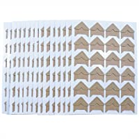 384 Pack Memory Books and Dairy IHUIXINHE Self Adhesive Photo Corners,16 Sheets 16 Colors Photo Mounting Corners for DIY Scrapbooks Picture Album
