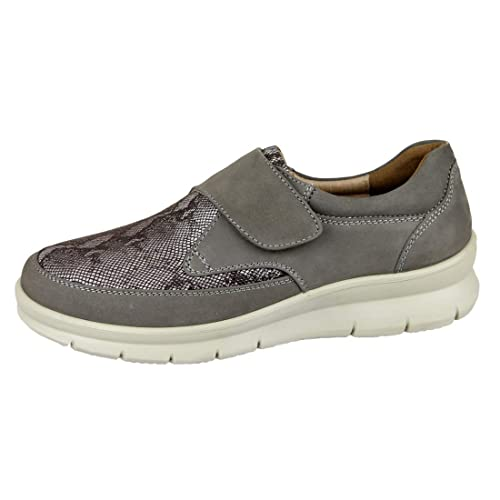 64f62015088d CARI FALCÓ - Zapato Mujer Ancho Especial con la Pala elástica de Lycra Que  se Adapta Cualquier Problema de pie. Ancho 13 con Plantillas extraibles. ...