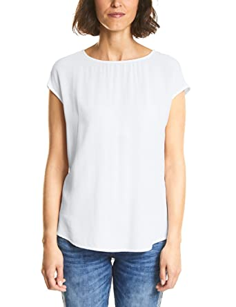 93cb9f092716ac Street One Damen Bluse 340931, Weiß (White 10000), 34