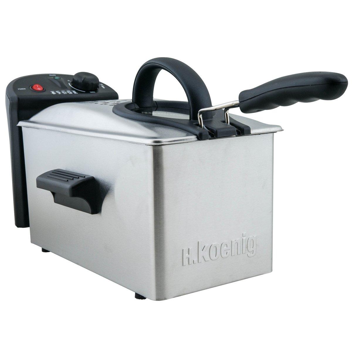 H.Koenig DFX300 DFX300-Freidora Profesional, 2100 W, Acero Inoxidable: Amazon.es: Hogar