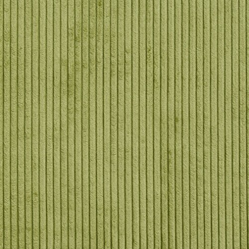 (B0700A Green Corduroy Striped Soft Velvet Upholstery Fabric by The Yard )
