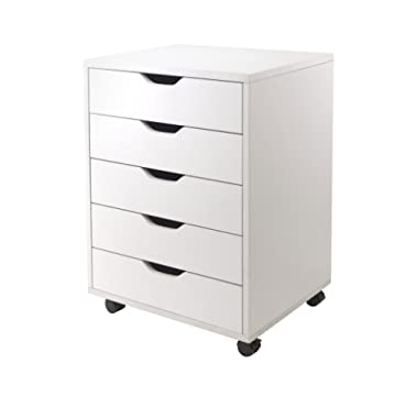 Winsome Halifax Cabinet for Closet/Office, 5 Drawers, White
