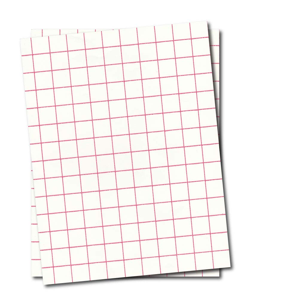 Red Grid Inkjet Heat Transfer Paper - 8.5'' x 11'' (50 Sheets) New & Improved!