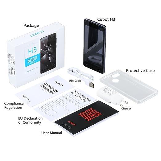 Cubot H3 liberado. Teléfono inteligente Android 7.0 5.0 Pantalla ...