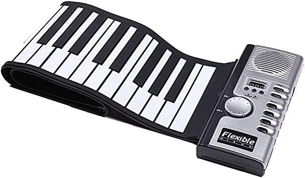 WANGLXST Piano portátil enrollable, portátil de 61 teclas ...