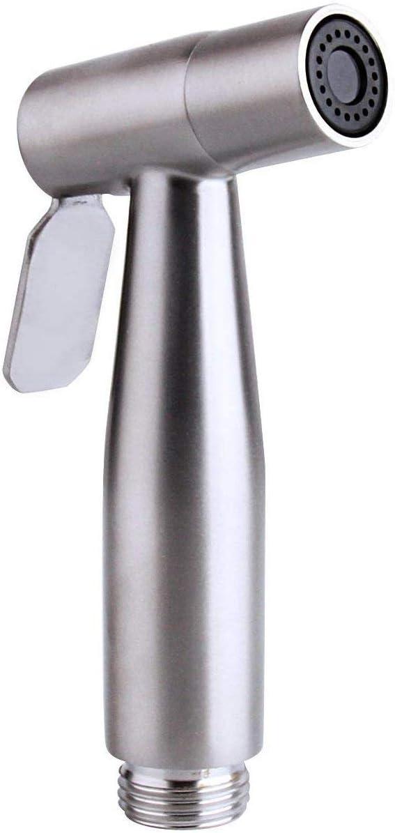 Orich - Pulverizador para bidé de mano, pulverizador de acero inoxidable de alta calidad, juego completo de bidé para inodoro, pulverizador de bidé de mano para inodoro de dormitorio, Plateado, Signle