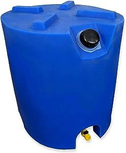 30 Gallon Stackable Emergency Water Storage Tank - 1 Tank & Water Treatment Kit- BPA Free Food Grade Plastic - Survival Supply Barrel - Portable & Reusable