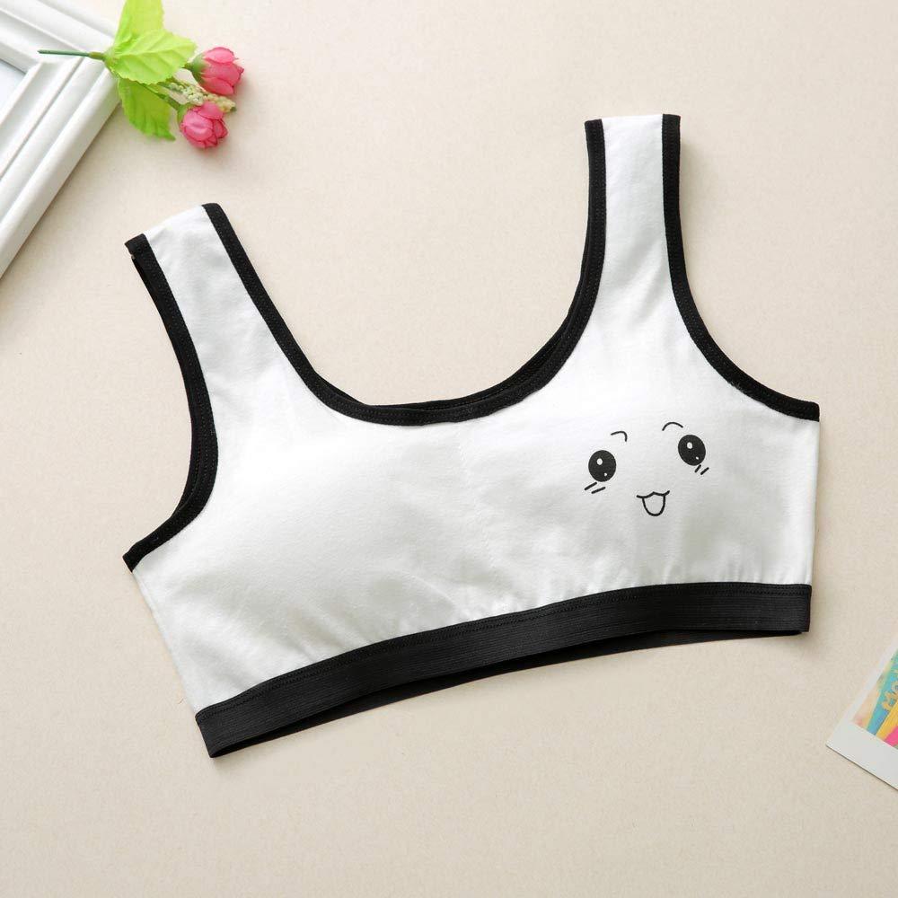 OSYARD Colorful Girls Bra New Lovely Girls Printing Underwear Bra Vest Children Underclothes Sport Undies 10-14 Years Old