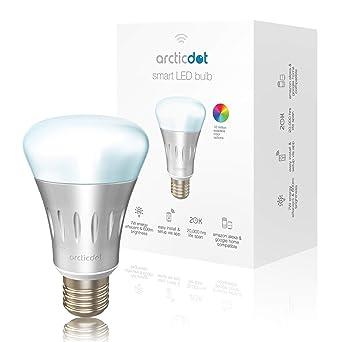 ArcticDot - Bombilla LED inteligente: control remoto de WiFi para smartphones, brillante multicolor,