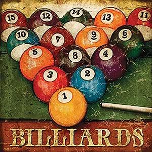 Billiards By Mollie B - 18 x 18 Art Print Poster