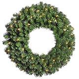 Vickerman 36'' Douglas Fir Wreath with 100 Clear Lights