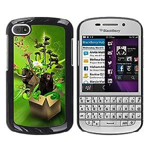TopCaseStore / la caja del caucho duro de la cubierta de protección de la piel - Design Box Animals Funny - BlackBerry Q10