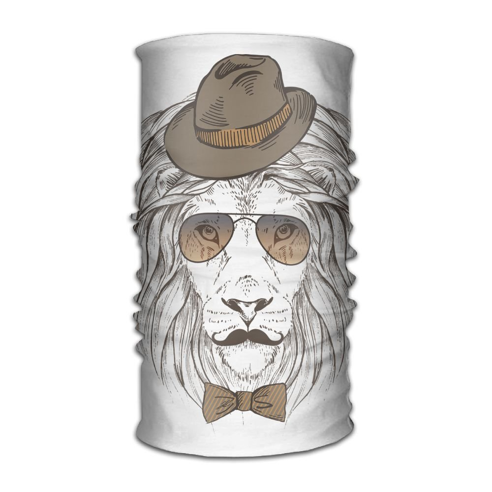 16 Ways To Wear Headwear Cool Lion With Sunglasses And Hat Versatile Outdoors & Daily Headwear Including Headband,Neck Gaiter,Bandana