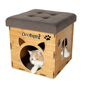 Cat Cave Nido de Gato Villa Cat Escabel Casa del Gato Lavable Verano Casa de Gato Caliente Pet Waterloo Suministros para Gatos Cama Suministros para Gatos ...