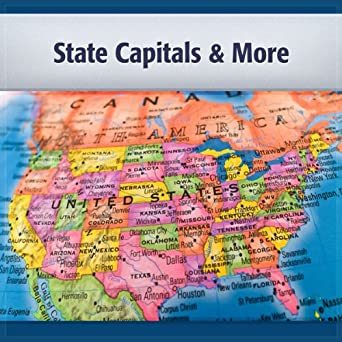 Amazoncom Us State Capitals And More Capitals Population And - Us-history-map-test