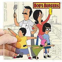 "CafePress - Bob's Burger Hero Family Square Sticker 3"" X 3 - Square Bumper Sticker Car Decal, 3""x3"" (Small) or 5""x5"" (Large)"