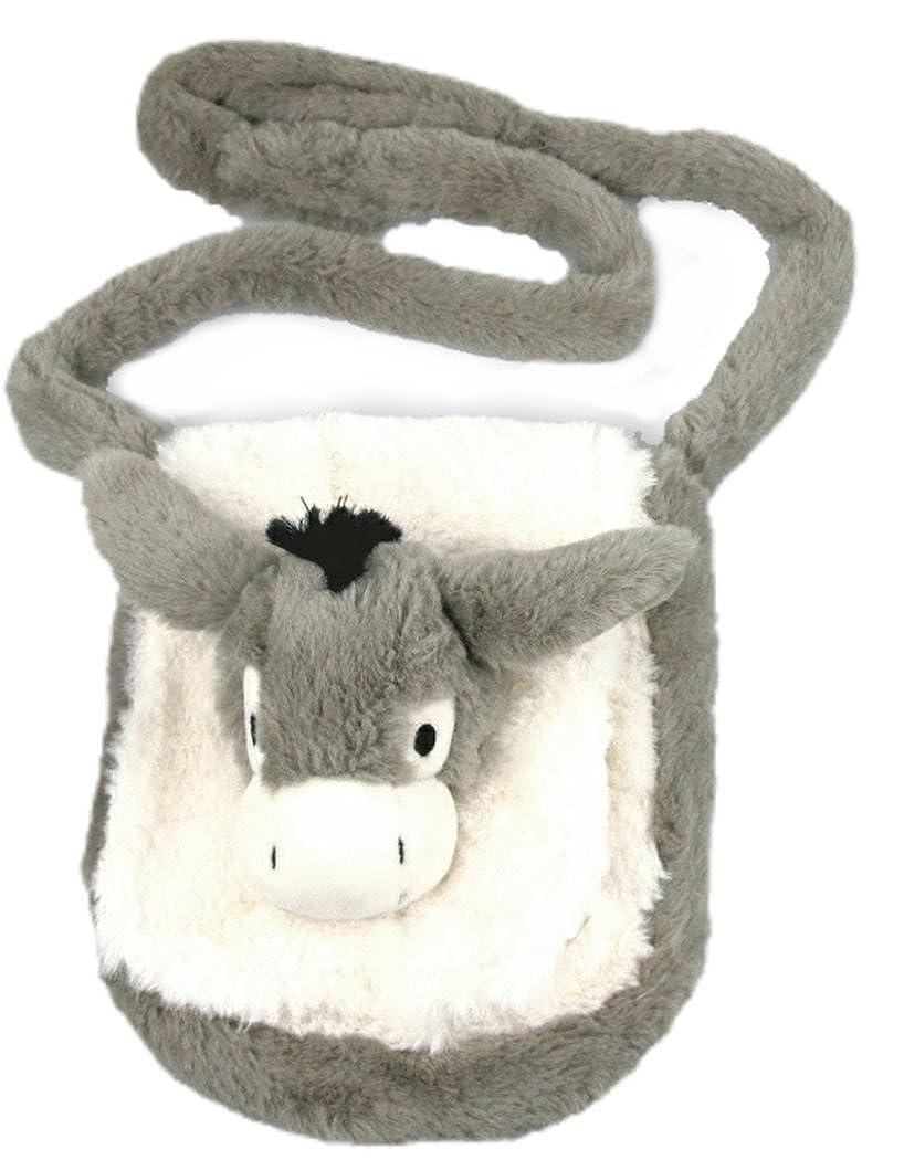 Inware 7147 - Kindergartentasche Esel, grau/weiß, Umhängetasche grau/weiß Umhängetasche