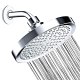 Shower Head - Rainfall High Pressure High Flow Fixed Chrome 8 inch Showerheads - Removable Water Restrictor - Adjustable & Anti-clog Rain Shower Heads for the Best Relaxation and Spa