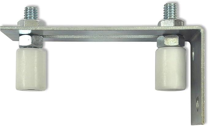 but/ée de porte coulissante argent/ée outils de porte avec vis localisateur pour portes pliantes et coulissantes poulie de guidage de porte en bois 4 paquets de guide au sol de porte