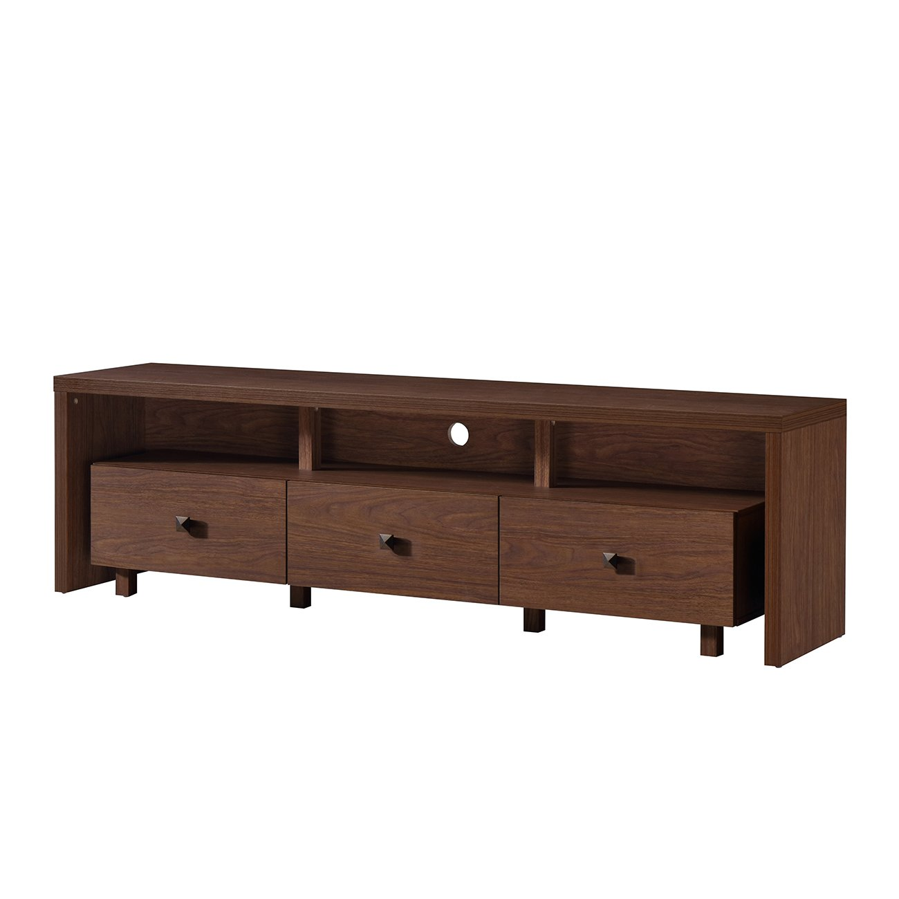 Techni Mobili Elegant TV Stand for TV s Up to 75 with Storage. Color Hickory