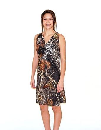 Amazon.com: Camo Diva CALLIE Camo Prom Dress Short Cowel Neck Camo ...