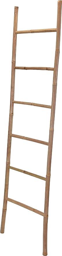 170 cm Bambus Handtuchhalter schwarz Dekoleiter Holz Leiter Kleiderst/änder