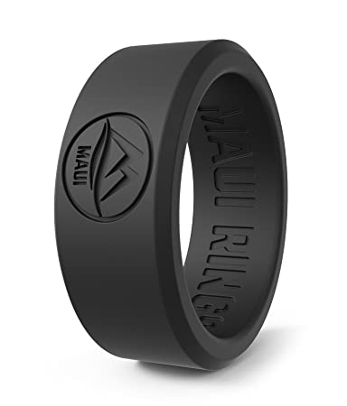 Amazon Com Maui Rings Silicone Wedding Ring For Men Solid Style