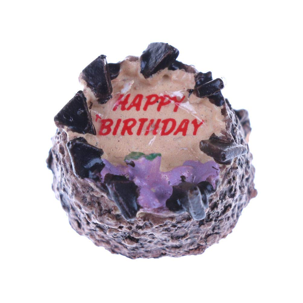 Super Amazon Com 1 12 Dollhouse Miniatures Chocolate Cake For Doll Birthday Cards Printable Riciscafe Filternl