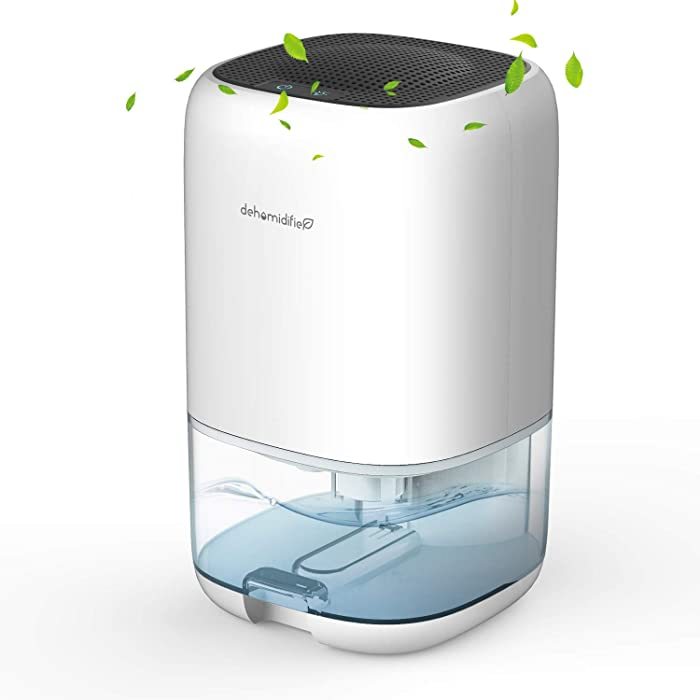 AUZKIN Dehumidifier 35oz Quiet Small Portable Dehumidifier for 2100 Cubic Feet (160 sq ft) with Auto Shut Off for Home, Kitchen, Garage, Wardrobe, Basement, RV