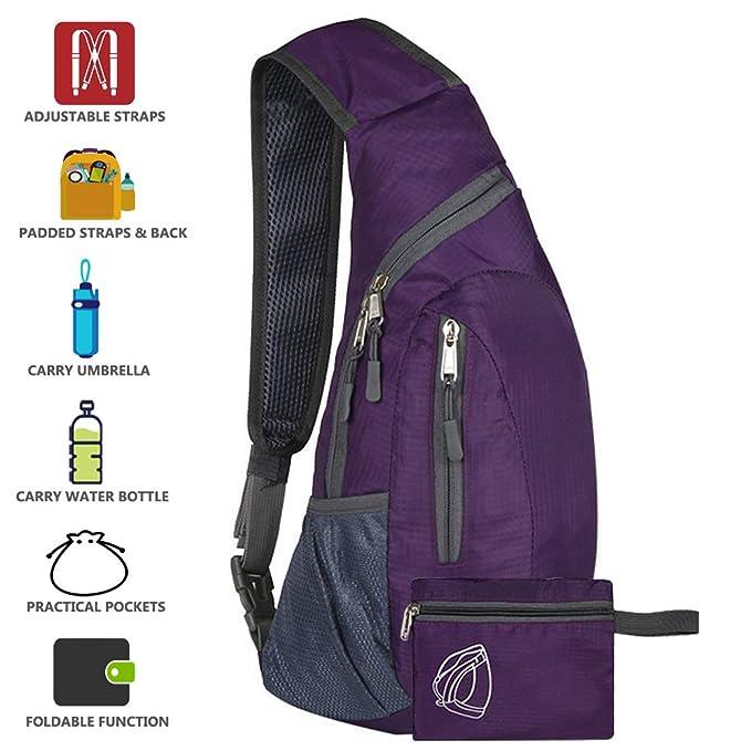 Peicees Sling Bags Men Women Shoulder Backpack Mini Chest Day Bag Kids Small Cross Body Pack