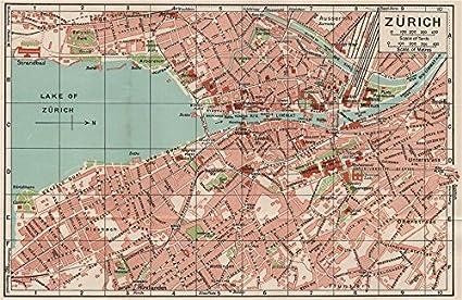 Amazon.com: ZÜRICH ZURICH. Vintage town city map plan ... on europe map, montreux switzerland map, rhine river map, austria map, madrid spain map, zermatt village map, edinburgh scotland map, zurich google map, basel switzerland map, bern switzerland map, zurich language, geneva map, zurich world map, switzerland on a map, seoul korea map, barcelona map, pfaffikon switzerland map, brugg switzerland map, paris switzerland map, france map,