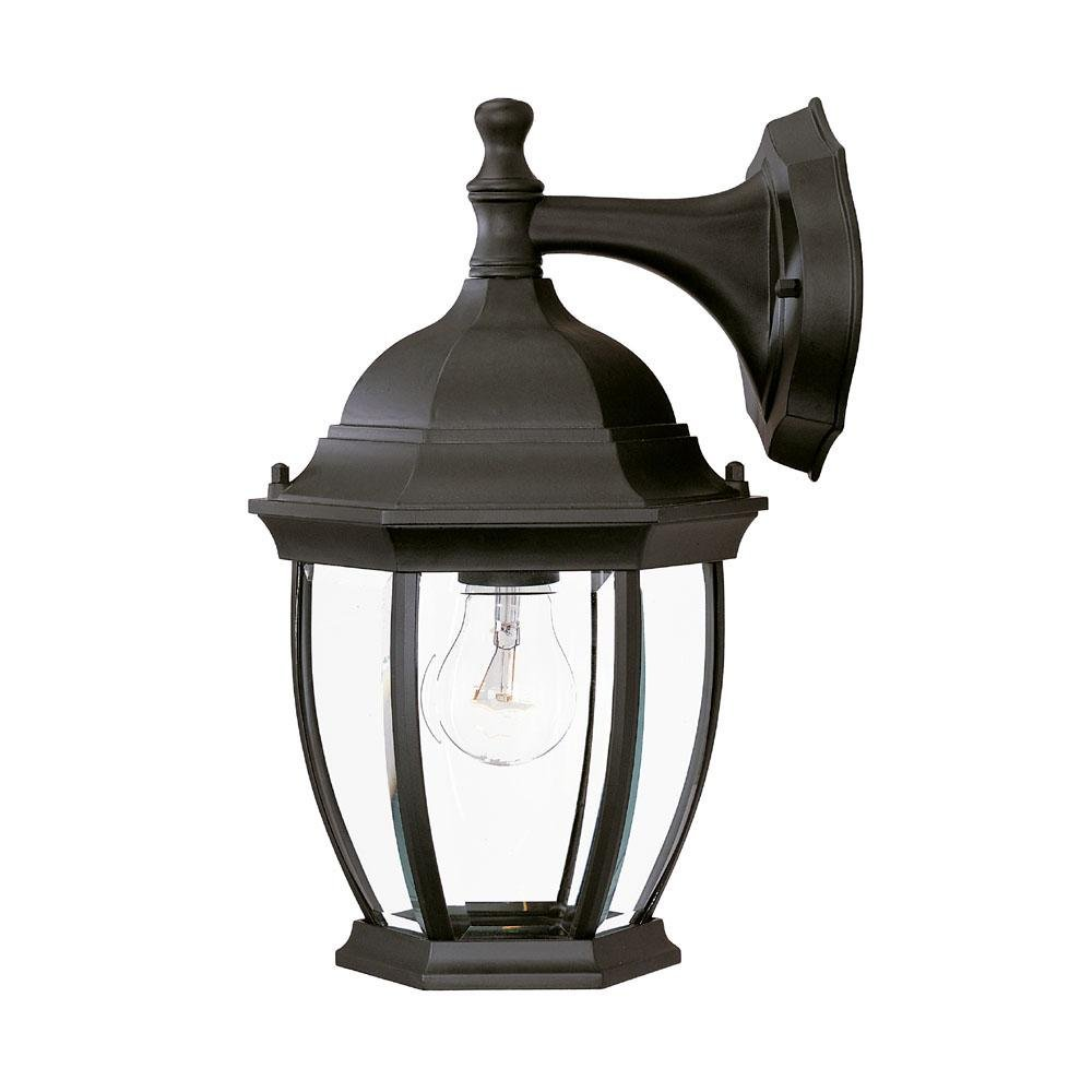 Acclaim Lighting Outdoor Wall Lights Acclaim Lighting 5035BK Wexford - One Light Outdoor Wall Mount, Matte Black  Finish with Clear Beveled Glass - - Amazon.com