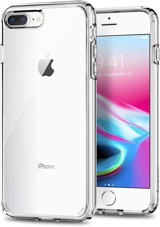 Spigen Funda Ultra Hybrid Compatible con Apple iPhone 7 Plus/8 Plus, Protección híbrida de la caída - Transparente