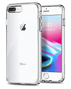 Spigen Ultra Hybrid [2nd Generation] Designed for Apple iPhone 8 Plus Case (2017) / Designed for iPhone 7 Plus Case (2016) - Crystal Clear
