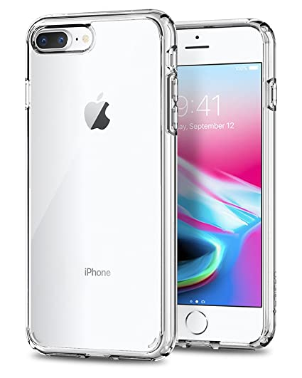 more photos 69947 7123c Spigen Ultra Hybrid [2nd Generation] Designed for Apple iPhone 8 Plus Case  (2017) / Designed for iPhone 7 Plus Case (2016) - Crystal Clear