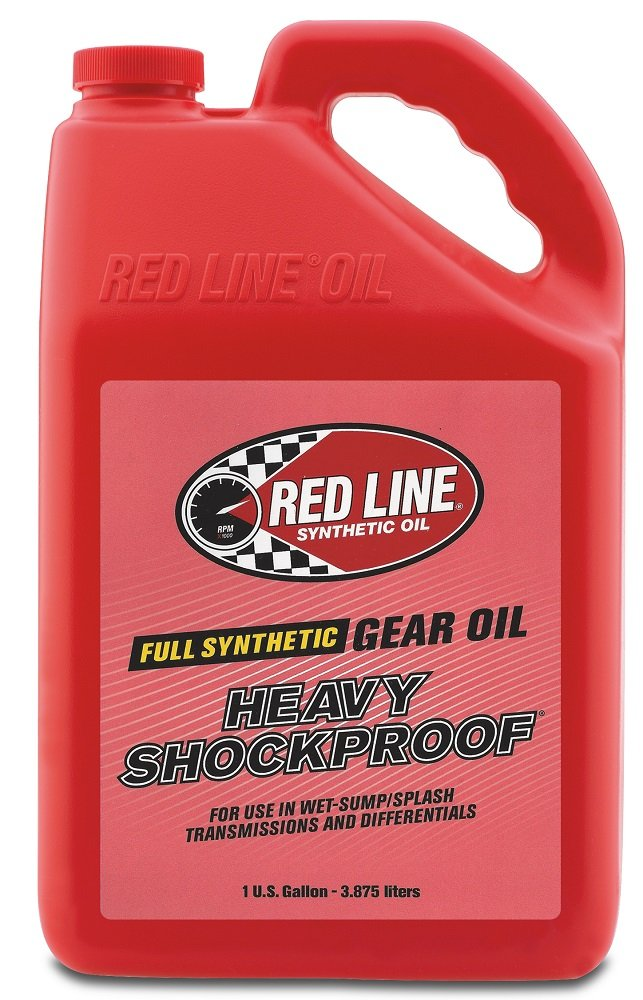 Red Line 58205 Heavy ShockProof Gear Oil - 1 Gallon, (Pack of 4) by Red Line Oil
