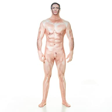 Morphsuits Official Censored Naked Sexy Man Fancy Dress Costume Size Medium
