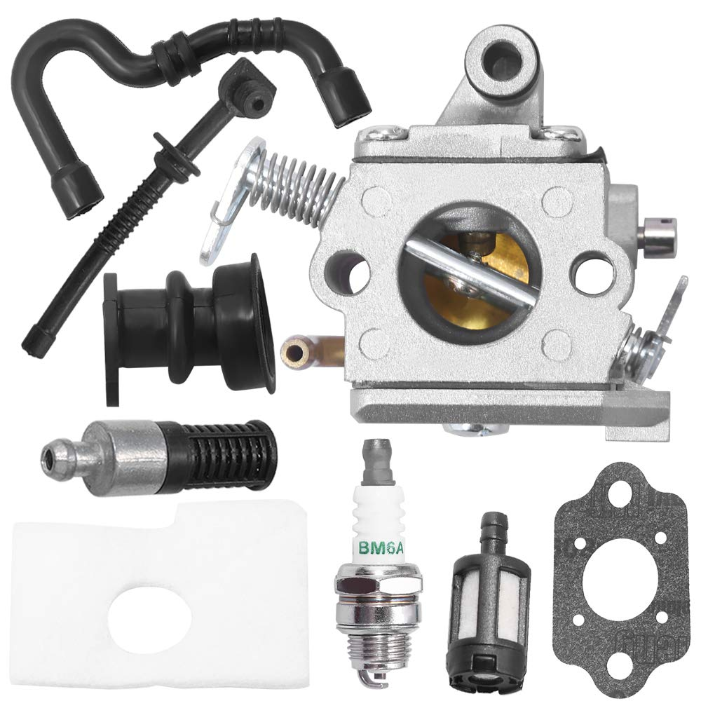 MS170 Carburetor Stihl 017 018 MS180 MS170C MS180C Chainsaw C1Q-S57A 1130-120-0603 Air Filter Tune Up Kit