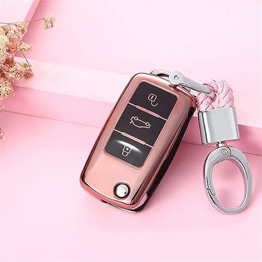 XUWLM Llaveros de automoción Nuevo TPU Car Key Shell Holder ...