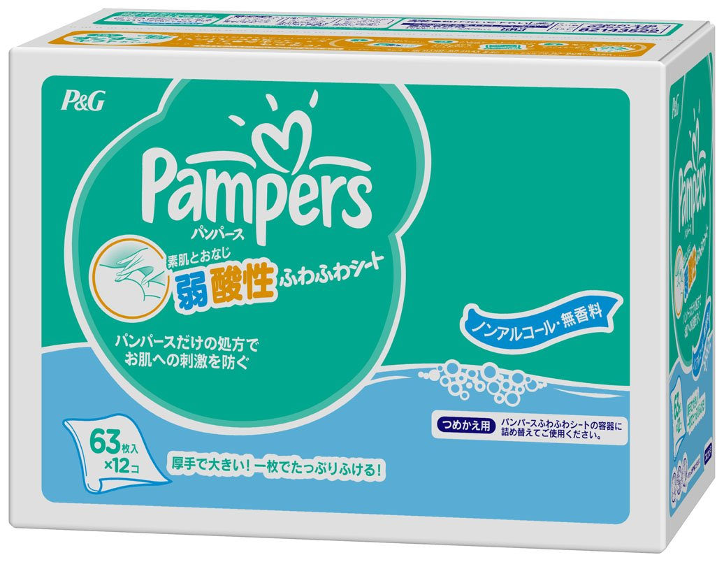 Pampers Club Pack Refill Sheets 63 Sheets Fluffy X12