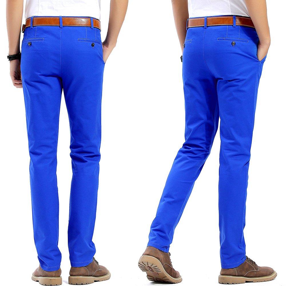 Harrms Pantalones Casuales de Hombre tama/ño 29-40 Slim Fit Pantalones Estilo Chino 20 Colores 100/% algod/ón
