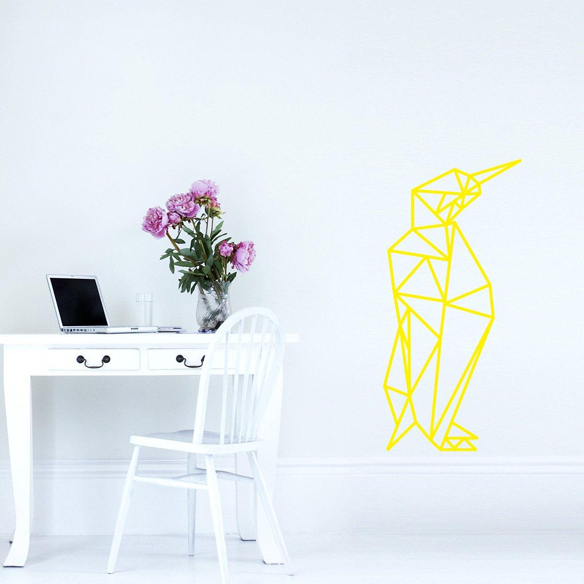WANDKINGS Wandtattoo Wandtattoo Wandtattoo - Origami-Style Pinguin - 52 x 110 cm - HellRosa - Wähle aus 5 Größen & 35 Farben B07BRYZ2LP Wandsticker & Wandfiguren 391f74