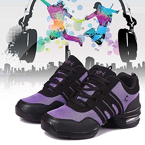 FrauenLeichte atmungsaktiveModern JazzSchuh-Tanz-Sport-Sportschuhe-Lila,Größe 40